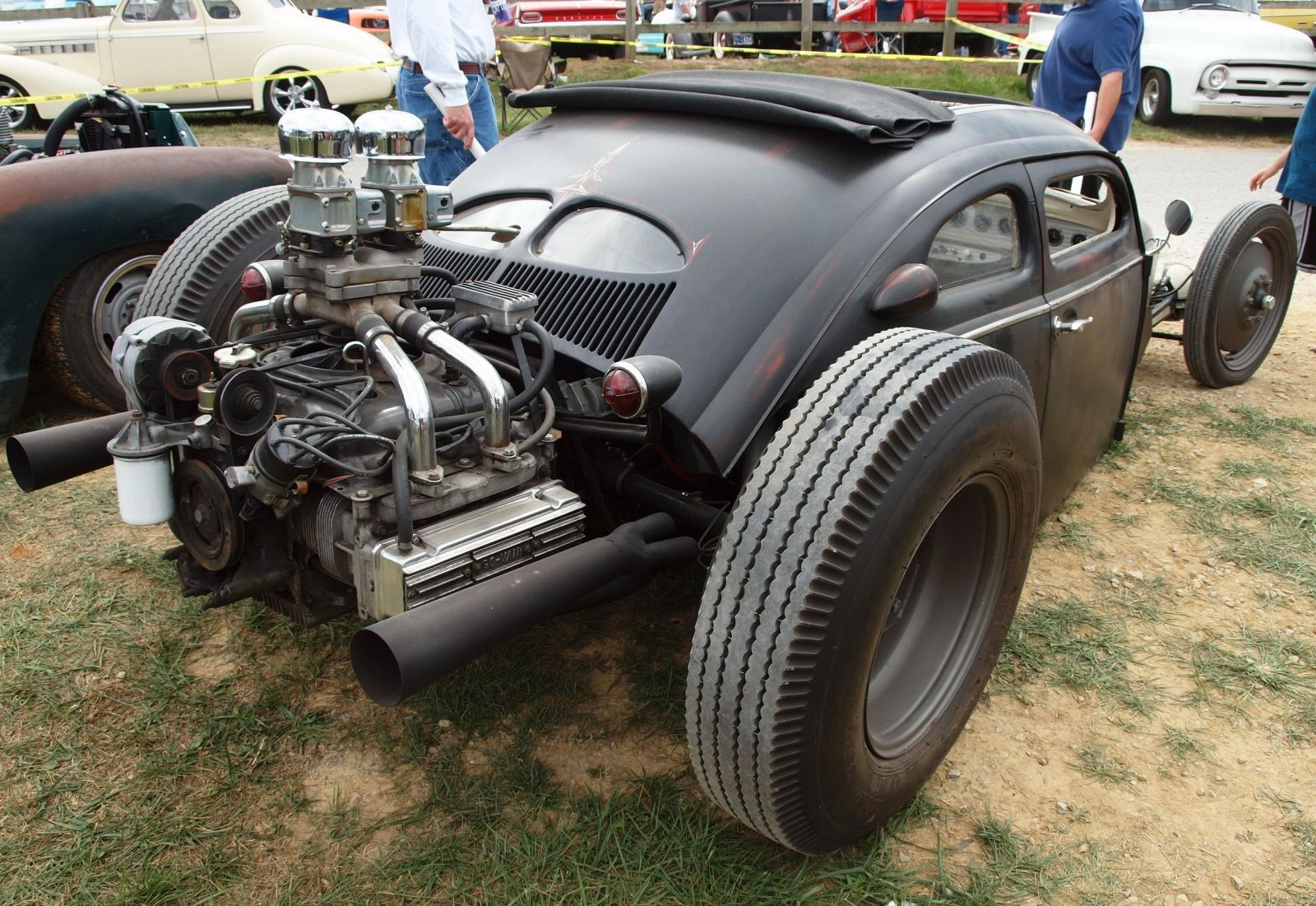 power cars  volkswagen beetle    bug chopped rat rod